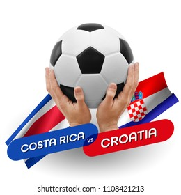 Soccer competition, national teams Costa Rica vs Croatia