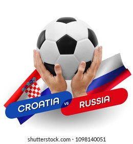 Soccer competition, national teams Croatia vs Russia