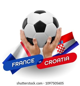 Soccer competition, national teams France vs Croatia