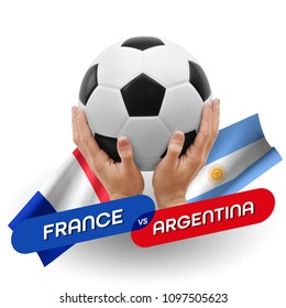 Soccer competition, national teams France vs Argentina