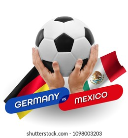 Soccer competition, national teams Germany vs Mexico