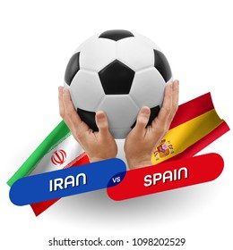 Soccer competition, national teams Iran vs Spain
