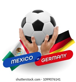 Soccer competition, national teams Mexico vs Germany