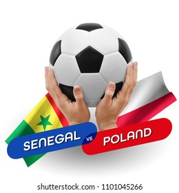 Soccer competition, national teams Senegal vs Poland