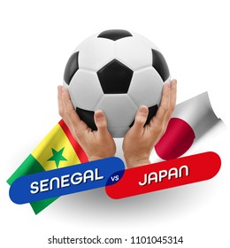 Soccer competition, national teams Senegal vs Japan