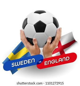 Soccer competition, national teams Sweden vs England