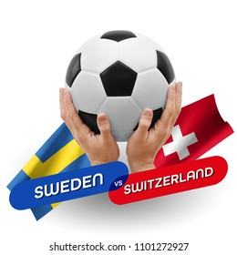 Soccer competition, national teams Sweden vs Switzerland