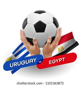 Soccer competition, national teams Uruguay vs Egypt