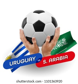 Soccer competition, national teams Uruguay vs Saudi Arabia