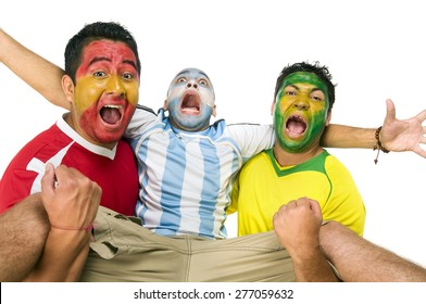 Soccer fans acting out their passion
