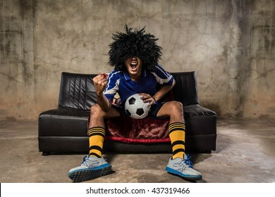soccer fans emotions portrait