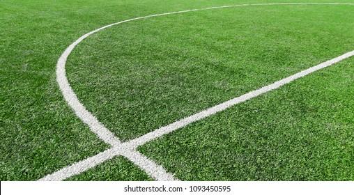 Soccer field, center lines