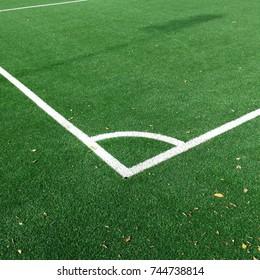 soccer field, corner
