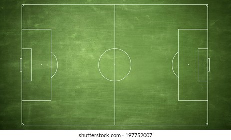 High Resolution Soccer Field Checkered Grass Stock Illustration