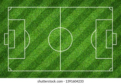 Soccer field or football field for background. With green lawn court pattern.