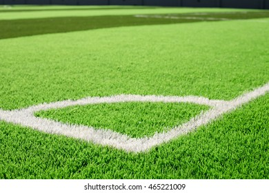 Soccer field grass conner
