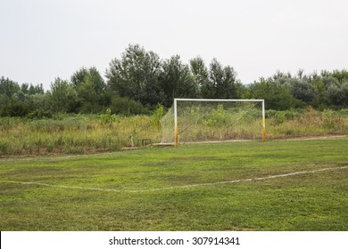 soccer field grass Goal at the stadium Soccer field