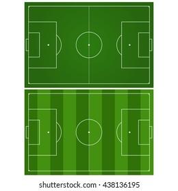 Soccer field. Green football stadium Top view. Illustration. Raster version