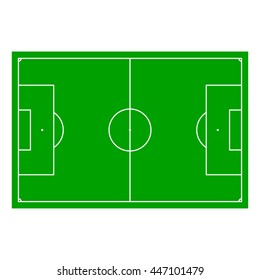 Soccer field with Line and Grass Texture, illustration