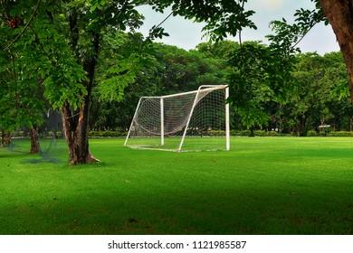 Soccer  Field practice in the park