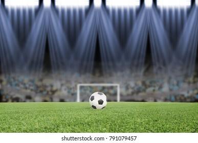 soccer field with sport light