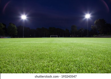 soccer field with spot lights (background)