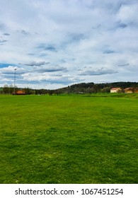 soccer field in spring
