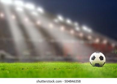 soccer field and stadium.
