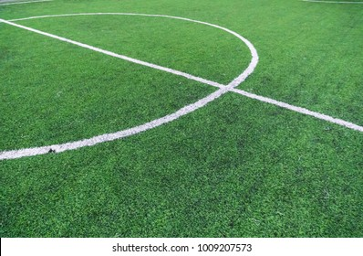 Soccer field with textured background grass