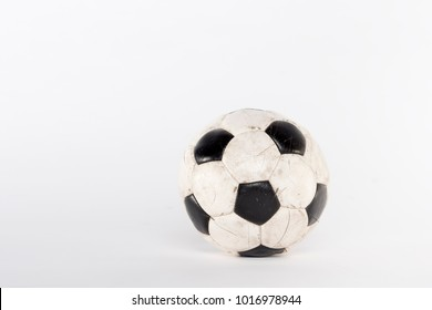 Soccer football ball in studio on white background