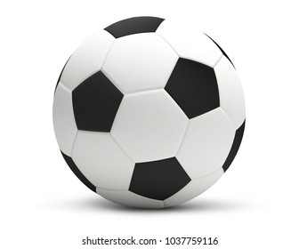 soccer football ball white 3d rendering isolated