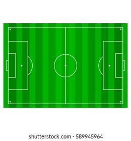 Soccer, football field, infographics app design horisontal