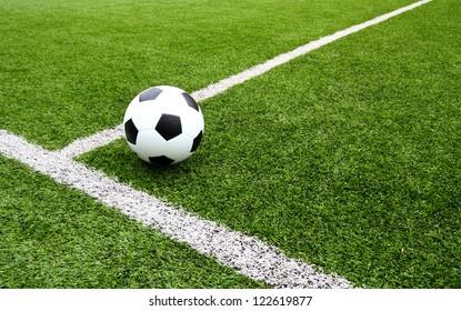Soccer football field stadium grass line
