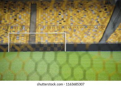 Soccer football goalposts net