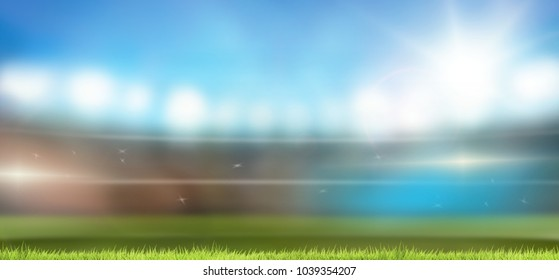soccer football stadium 3d rendering background