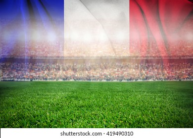soccer football stadium merge with french flag