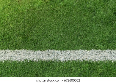 Soccer or Football with white line