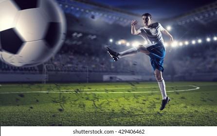 Soccer forward player