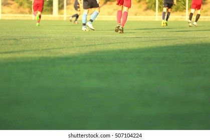 Soccer game players on field