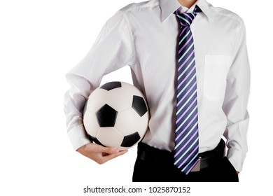 Soccer general manager isolated over white background