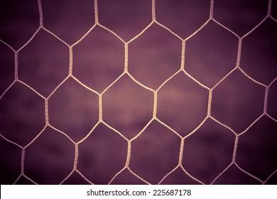Soccer goal net vintage background