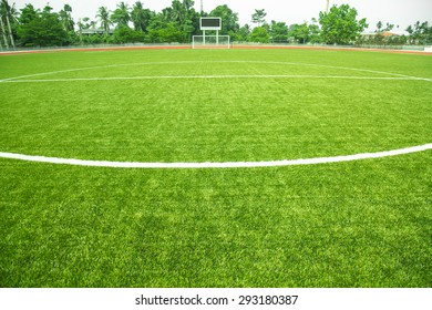 Soccer Goal on field grass