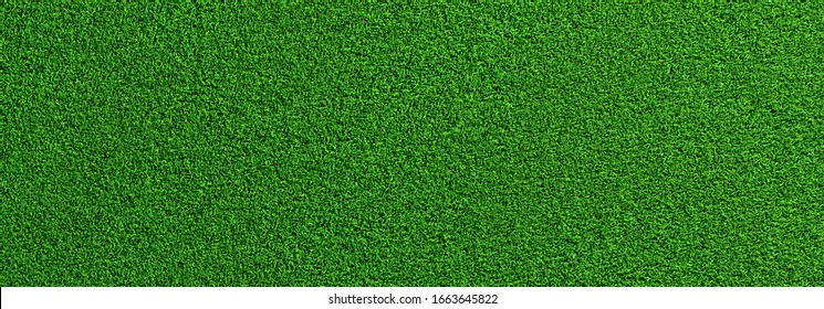 Soccer green grass as a panoramic banner background, banner size, EM 2020 Concept image - Shutterstock ID 1663645822