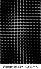 Soccer Net on Black as Design Element