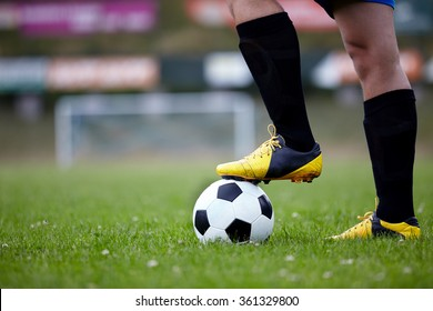 Soccer player action