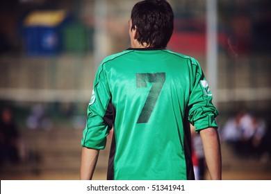 Soccer player back