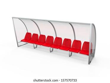 Soccer Player Bench