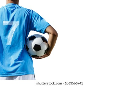 soccer player isolated on white clipping path