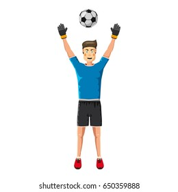 Soccer player man icon. Cartoon illustration of soccer player man  icon for web
