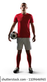 soccer player on white background